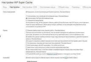 Моя шпаргалка - плагин WP Super Cache и его настройка-3